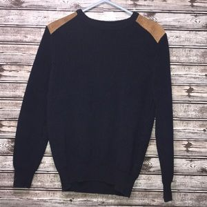 J. Crew Navy Blue Cable Knit Sweater | M